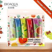 5 pcs/lot BIOAQUA Plant flavor Hand Cream Set Moisturizing Hydra Moisturizing Nourishing Anti-chapping Whitening skin care set