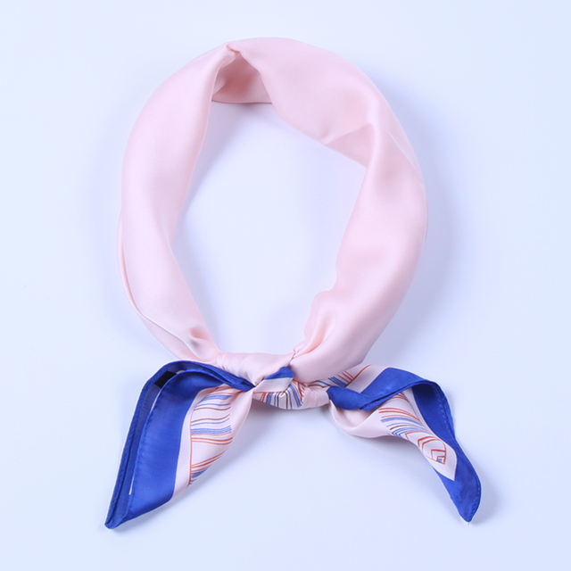 2718f57a97ee2 Luna&Dolphin Women Square Scarf 60*60cm Solid Color Pink Champagne Chiffon Silk  Scarves Navy Office