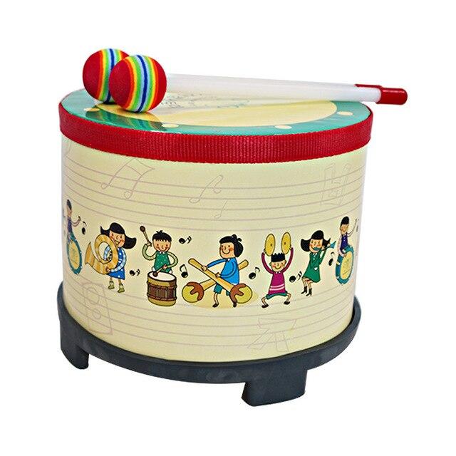 Maternelle Jeu Tambour Jeu Musical Instrument Enfants En Bois