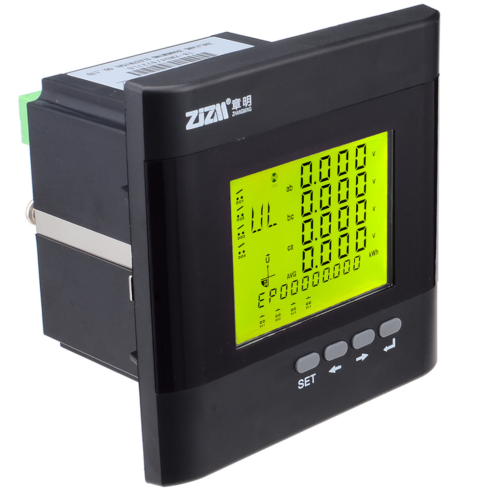 3 Phase Multi function Power Meter Digital LCD Display Energy Voltage Current Meter with RS485 Communication