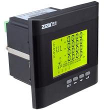 Безуходный 3-х фазный мульти-Функция Мощность, цифровой прибор для измерения уровня ЖК-дисплей Дисплей энергии Напряжение измеритель тока с RS485 Связь Функция 12006053