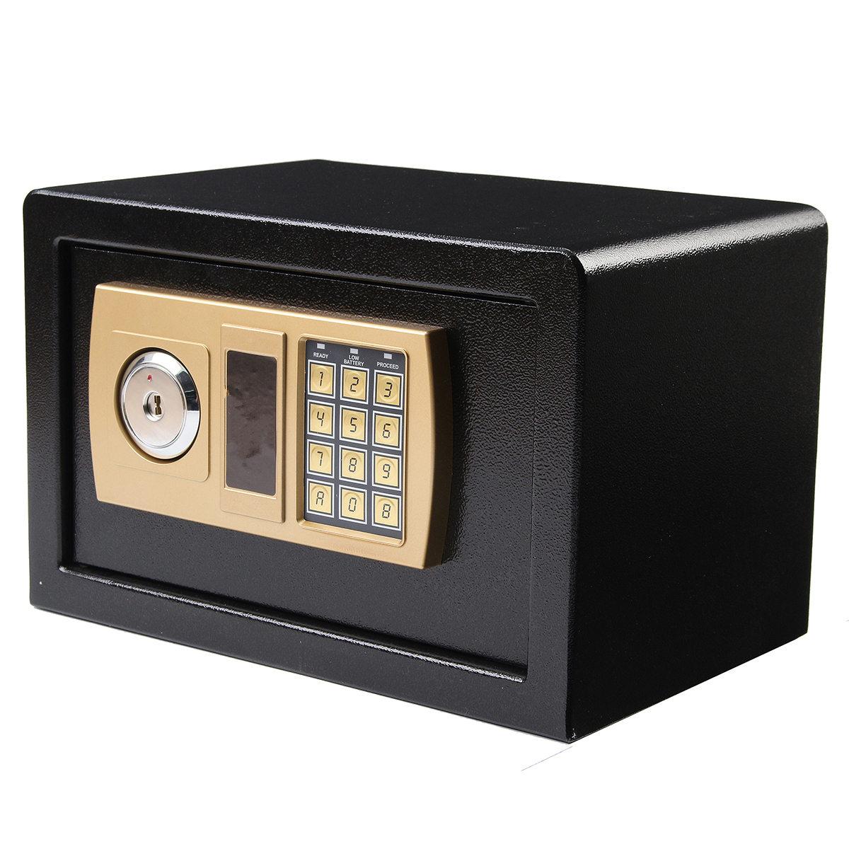 Safurance Роскошная цифровая коробка для хранения денег, сейф для ювелирных изделий, для дома, отеля, замок с клавиатурой, Черная защитная коробк...