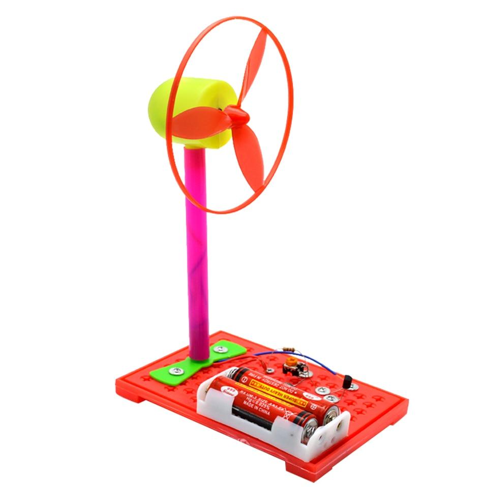 Children's Primary School Science Experiment DIY Toys Adjustable Electric Fan (2pieces)