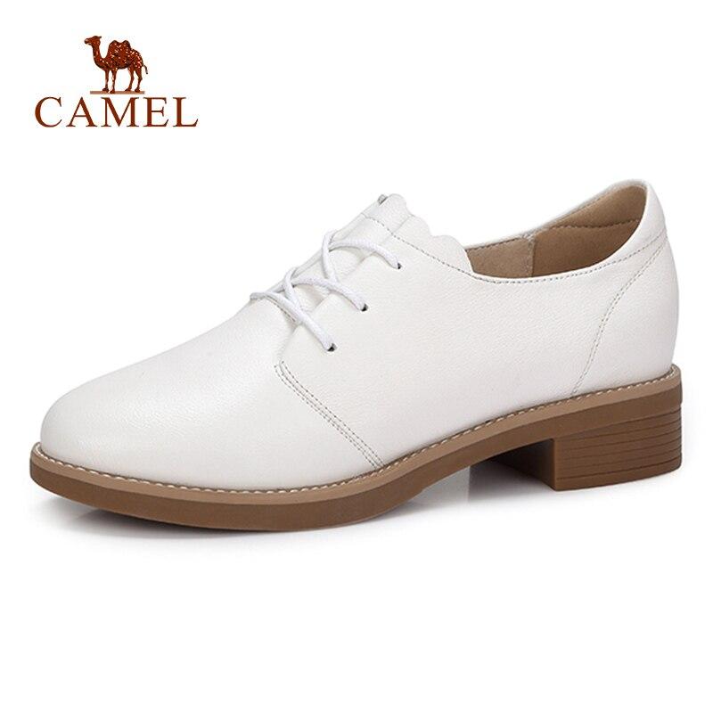 Ayakk.'ten Kadın Pompaları'de DEVE Kadınlar Yeni Moda Rahat tek ayakkabı Kadın Düşük Topuk Yumuşak Hakiki Deri Beyaz Elbise Ayakkabı Bayanlar Için Düşük Konfor Pompaları'da  Grup 1