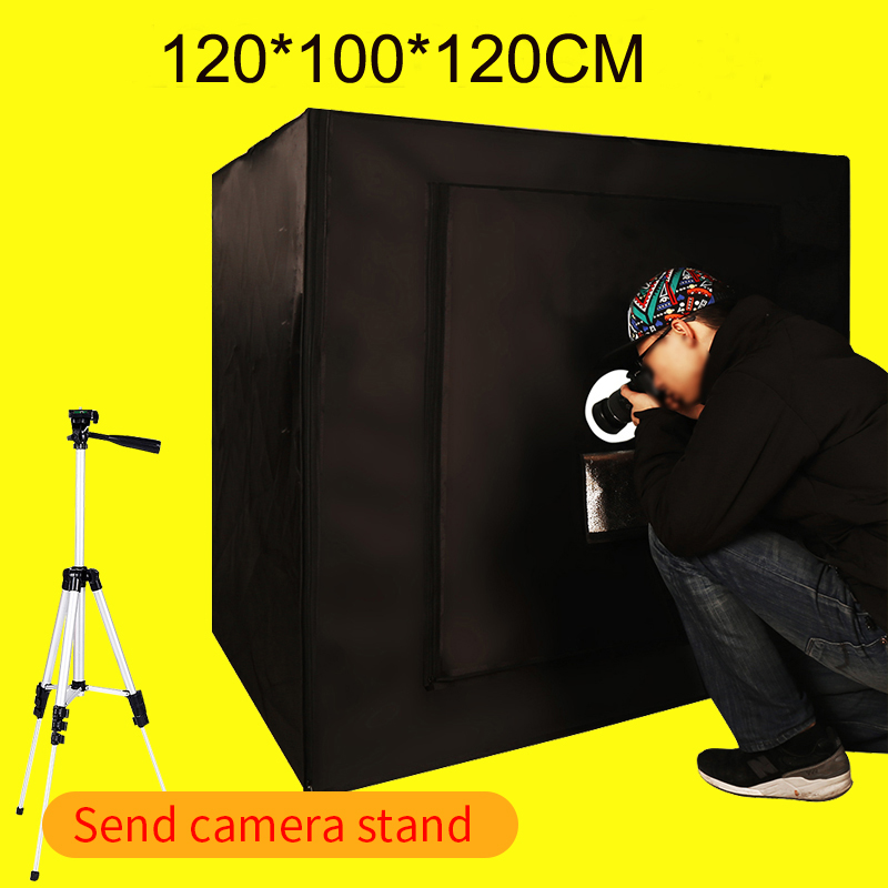 120*100*120CM Dimmable Led Light Photo Softbox Photo Studio Light Room Soft Box Kit Shooting For Clothing With Free Gift puluz 40 40cm 16light photo studio box mini photo studio photograghy softbox led photo lighting studio shooting tent box kit