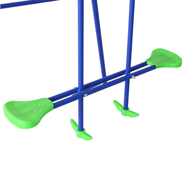 Online Shop Hlc Outdoor Childrens Folding Swing Set With 2 Baby
