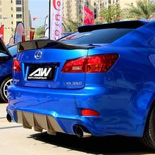 Carbon Fiber Rear Trunk Boot Duck Spoiler Back windshield Wing For Lexus IS IS250 IS300 IS350 2007-2013 Car Styling fit for 06 08 lexus is250 is350 ds poly urethane black front bumper lip spoiler