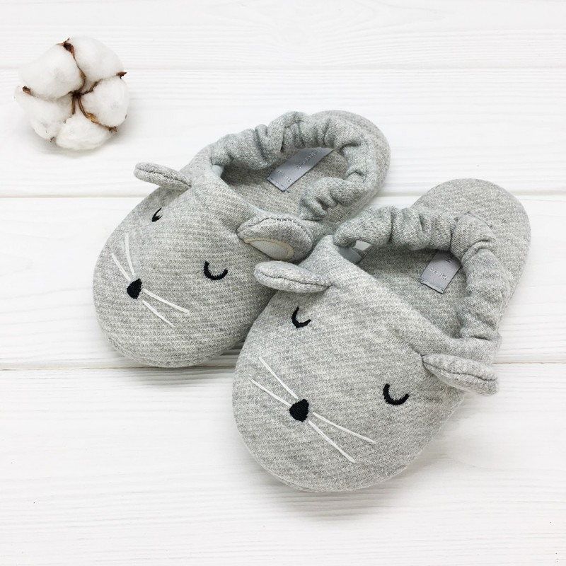 Фото - Children's slippers Halluci Mouse halluci polar bear fluffy home slippers women shoes indoor cute slides women slippers house sapatos mulher chinelo terlik