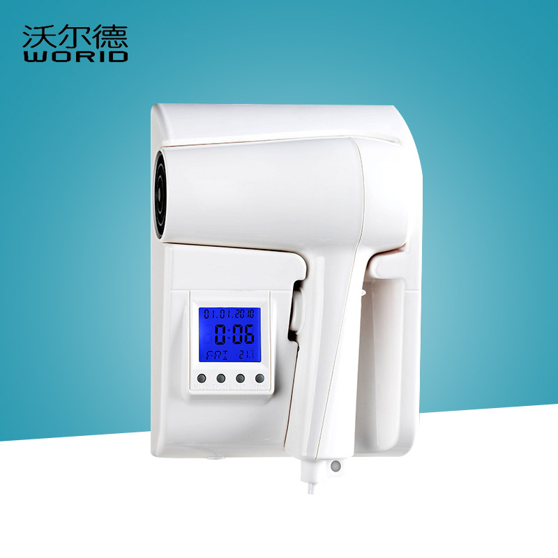 ITAS7797 LCD screen negative ion wall-mounted hanging blower bathroom hair dryer hotel household hair dryer ABS plastic