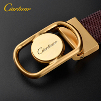 2019 new design belt high quality for men genuine leather strap trousers first layer luxry ciartuar brass buckle free shipping