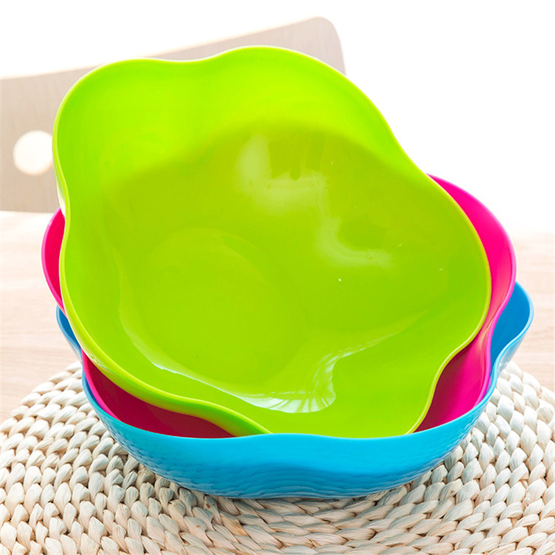 creative fruit plate plastic candy color dish bowl snacks fruit basket Kitchen household