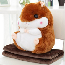 Cute hamster pillow car neck pillow dual  large air – conditioning  pillow coral cashmere blankets pillow