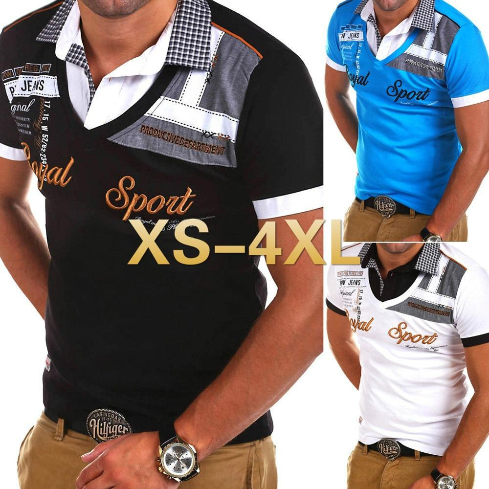 Zogaa New Men's fashion Short Sleeve   POLO   shirt patchwork Men Cotton summer casual shirts Slim Fit   Polos
