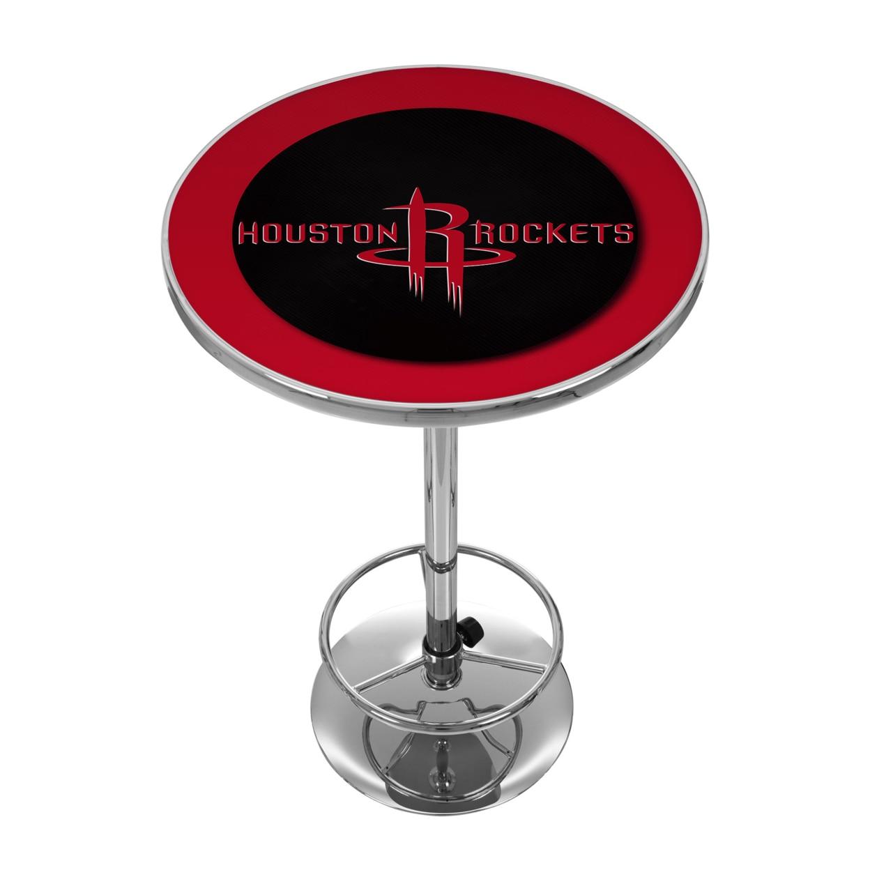 Houston Rockets NBA Chrome 42 Inch Pub Table