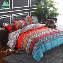 WAZIR 2 Patterns Bohemian Ethnic Style Bedding Set Twin Full Queen King 4 Size Duvet Cover Pillowcase