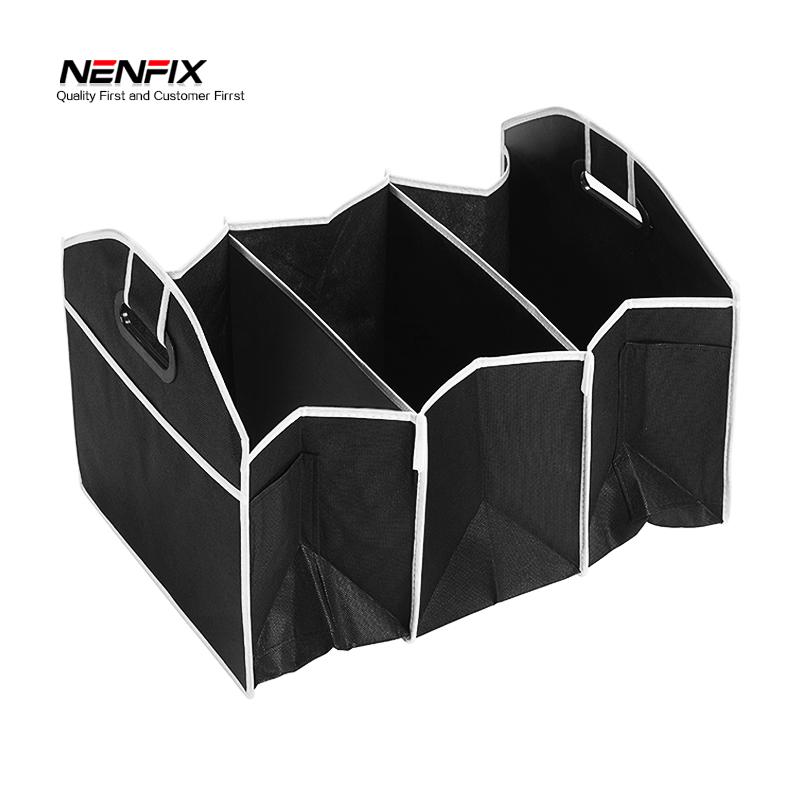 New Car Multi-Pocket Organizer Black Trunk Toy Food Folding Storage Truck Cargo Container Bag Box Auto Accessory Stowing tidying