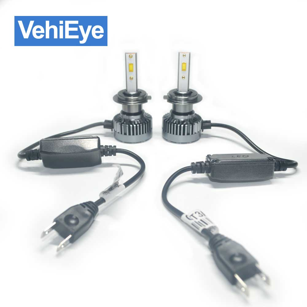 VehiEye mini H1 H3 H4 H7 H8 H9 H11 5202 880 881 9004 9005 9006 9007 9012 Car LED Headlight Foglight Bulbs 12V 24V 6000K 8000LM