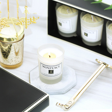 Aromeasy Natural Soy Wax Scented Candle 3pcs per Gift Bag Essential Oil Candle 4 Scents Aromatherapy Candle Lavender Sandalwood