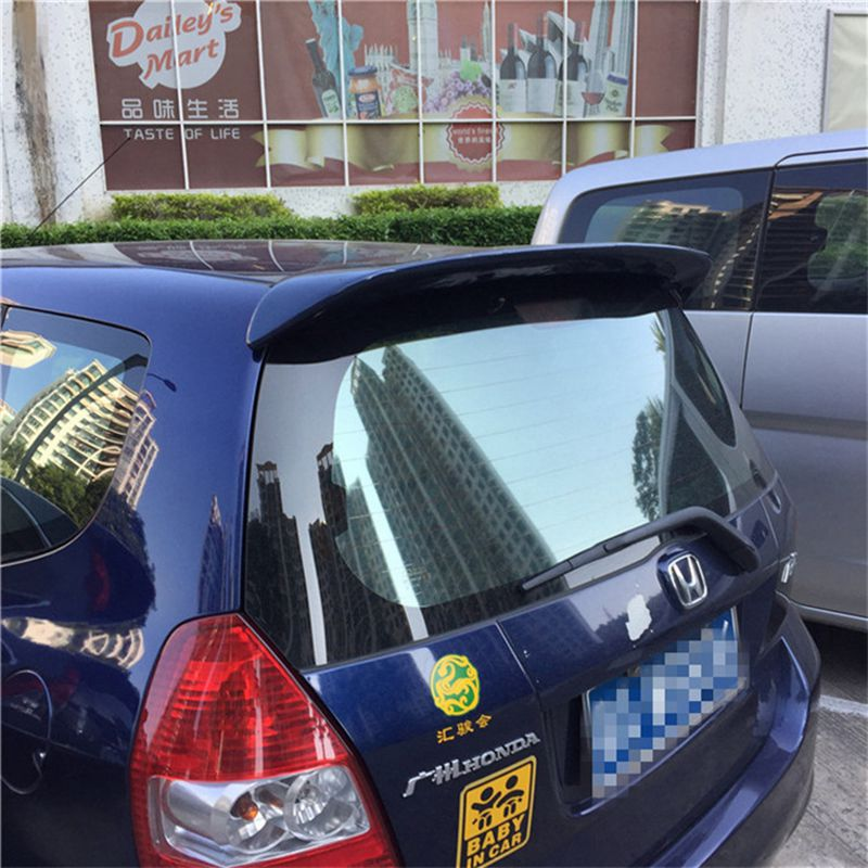 use for honda fit/jazz Spoiler 2003-2007 fit/jazz Spoiler High Quality ABS Material Car Rear Wing Primer spoiler цена