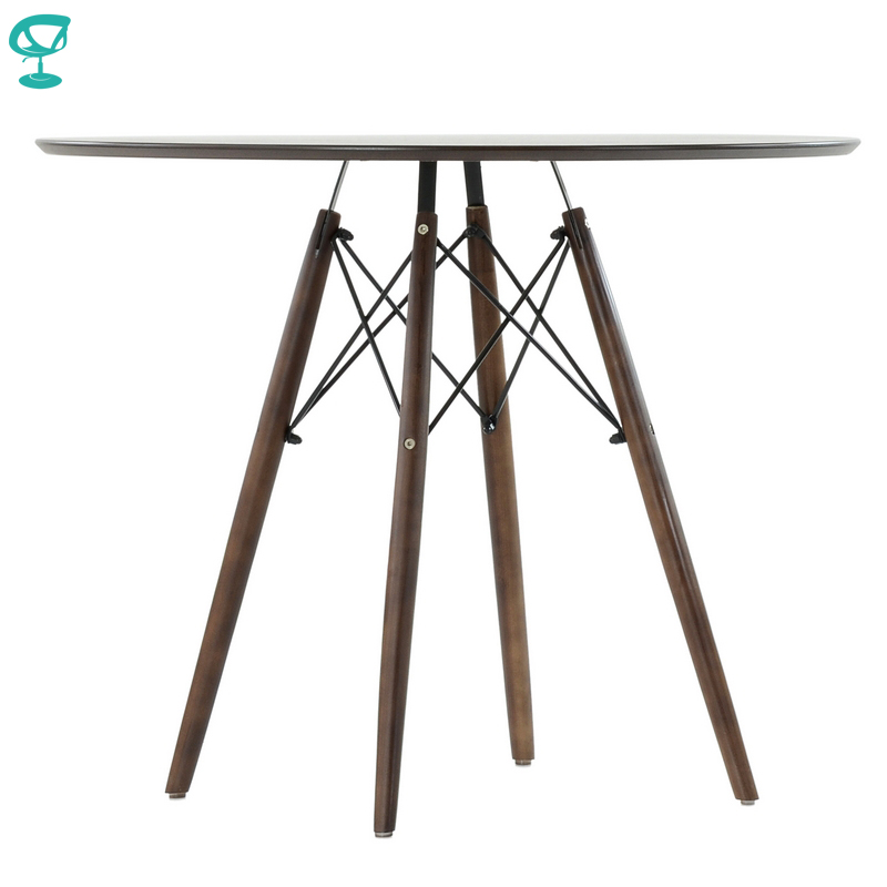 T8Sp80Brown Barneo T-8 Veneer Interior Dinner Table Bar Table Kitchen Furniture Dining Table Color Brown Free Shipping In Russia