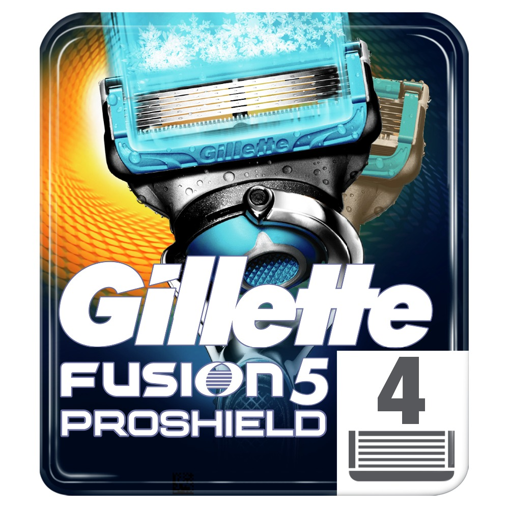 Removable Razor Blades for Men Gillette Fusion ProShield Chill Blade for Shaving 4 Replaceable Cassettes Fusion Cartridge кассеты gillette fusion proshield chill 4 шт