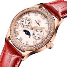 New Roman Number 2017AILANG Watches Women red leather strap Ladies of the Big Dial Quartz Wrist watches for Women Female relogio