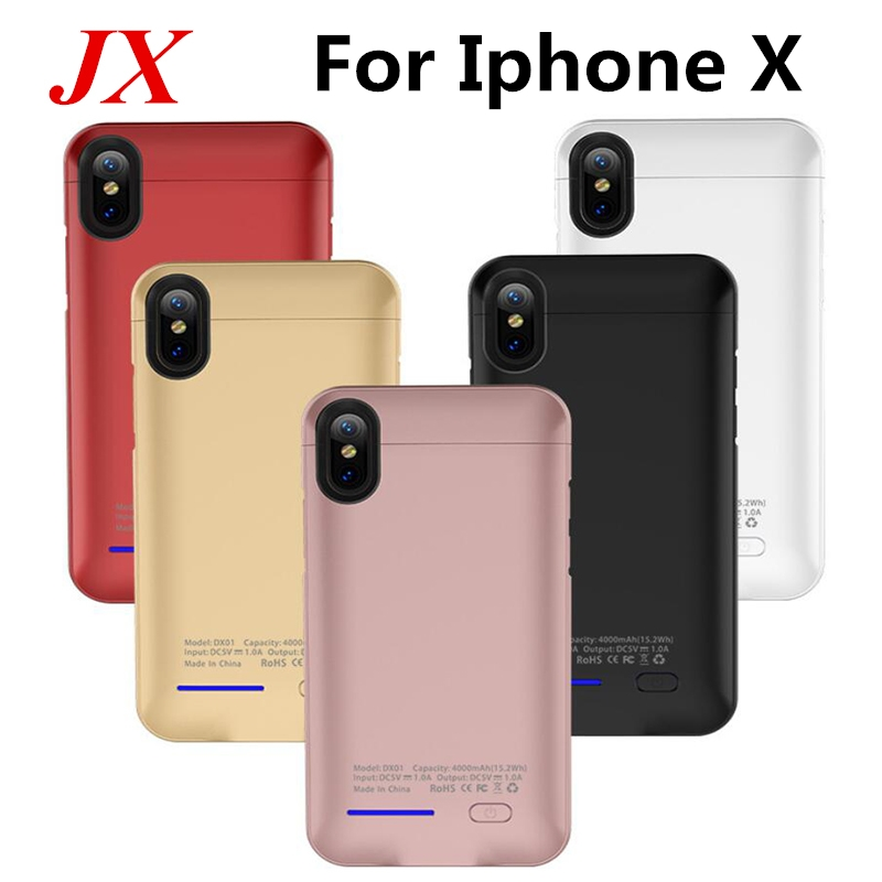 4000 MAh Magnet adsorption Charge Battery Cover For Iphone X Battery Case External Power Bank For Iphone X Battery Case