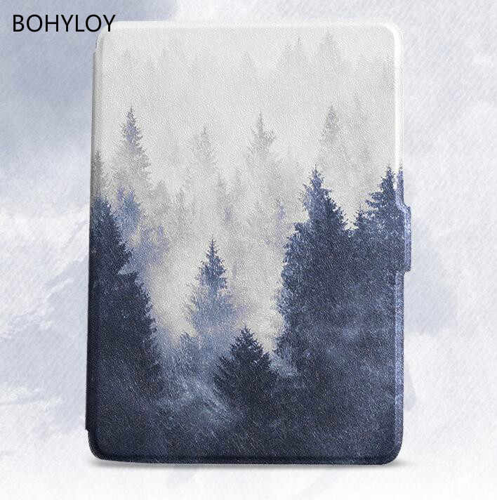 BOHYLOY smart cover case imitation leather stand cover for Amazon kindle paperwhite 3 case KPW123 Reader Cover 958 e-Books Case