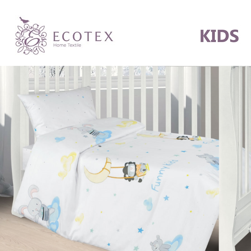 Фото - Baby bedding Funny kids,100% Cotton. Beautiful, Bedding Set from Russia, excellent quality. Produced by the company Ecotex flower print bedding set