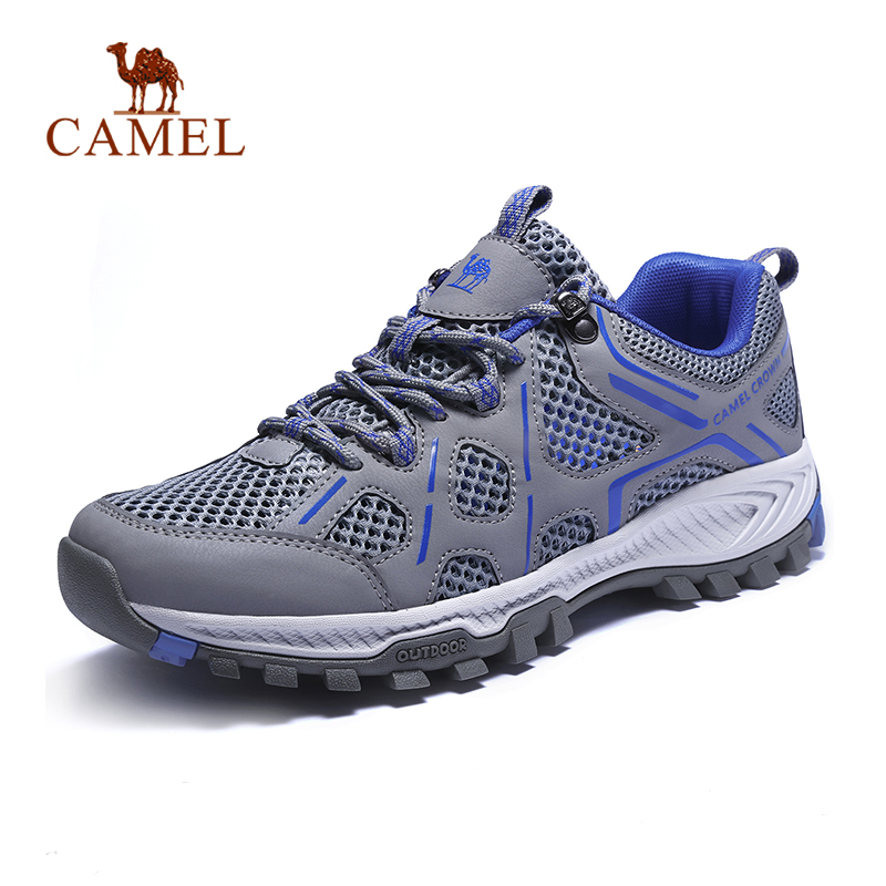 CAMEL New Outdoor Men Breathable Mesh Hiking Shoes Summer Autumn Non slip Durable 2019 Male Trekking