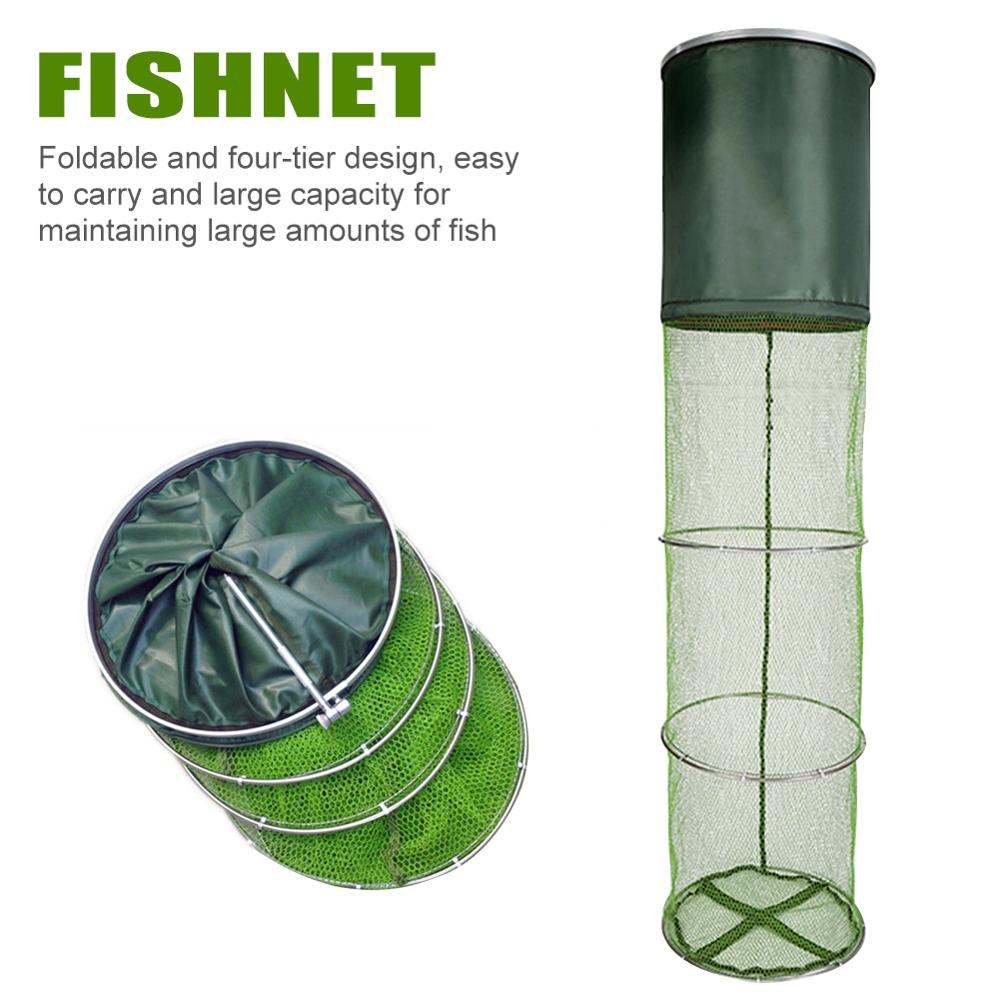 Image 4 - Portable Automatic Folding Umbrella Type Fishing Net Shrimp Cage Crab Fish Trap Cast Net 6 8 10 12 holes  сеть рыболовная-in Fishing Net from Sports & Entertainment