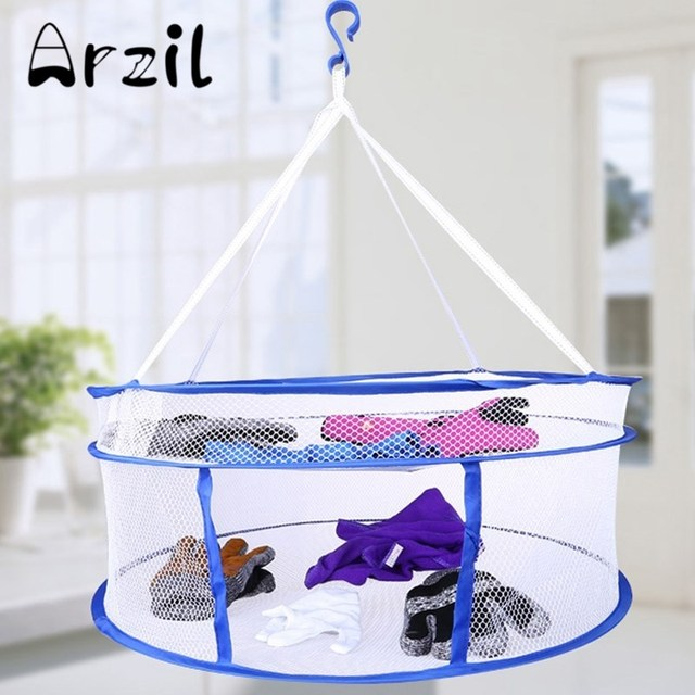 Doulbe Layers Folding Dry Rack Hanging Clothes Laundry Hangers Dryer Net Mesh Tent for Underwears Small  sc 1 st  AliExpress.com & Doulbe Layers Folding Dry Rack Hanging Clothes Laundry Hangers ...