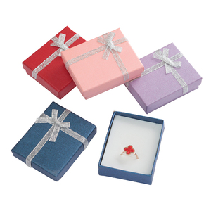 Image 3 - 24pcs Paper Gift Box with White Sponge 7x8x2.5cm Jewelry Display Box for Jewellery Necklace Ring Earring Storage Packing