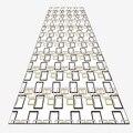 Черный желтый прямоугольник Геометрические линии 3d печать Нескользящая микрофибра моющийся длинный бегун коврик коврики для прихожей