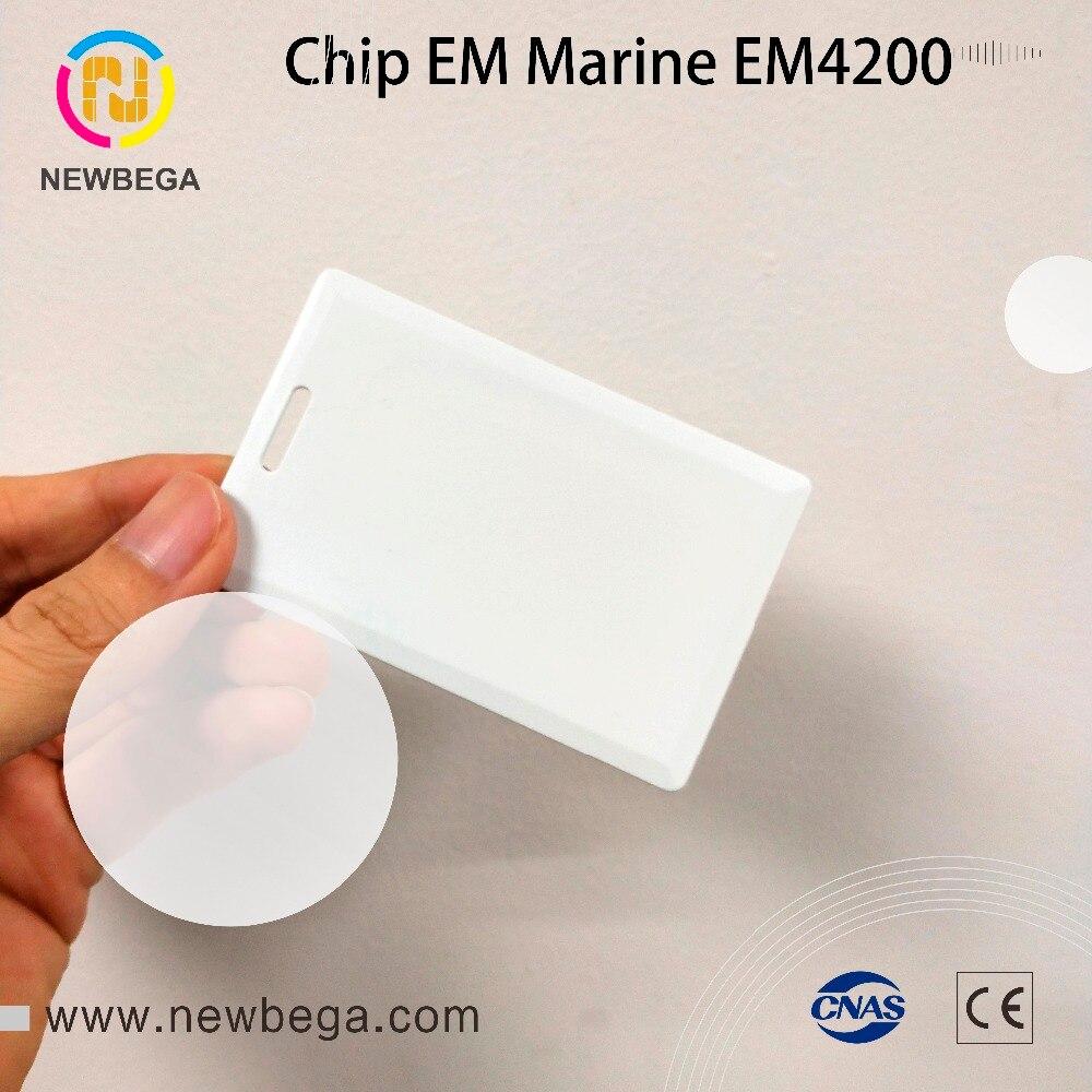 Güvenlik ve Koruma'ten RFID Etiketler ve Kartlar'de 10 PCS RFID 125 KHZ EM Deniz EM4200 kalın kart 1.8mm anahtar kartı ücretsiz kargo