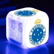 367af355ff3 Dropshipping livre Clube De Futebol Relógio Cruzeiro Esporte Clube  despertador Snooze Digital LED Alarm Clocks reloj