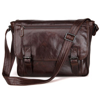 Shoulder Bag Mens Genuine Leather 2018 Male Brand Desginer Brown Business Vintage Messenger Crossbody Ipad Travel Casual Bags