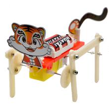 Educational DIY toy tiger walking robot