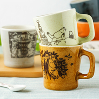 Nice Finnish Famous Cartoon lovely Moomin Retro Porcelain Coffee Cup Breakfas Milk mug Copo Caneca tumbler best Gift For lovers