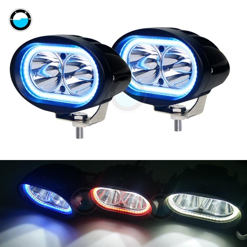 2 Pcs 20W LED Work Light Spotlight 6000K Car Truck Auto Driving Light For 4X4 Offroad LED Driving Fog Lamp Motorcycle
