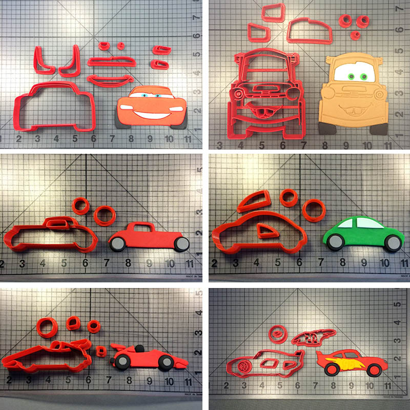 Cartoon Character Cars Cookie Cutter Cake Decorating Tools Custom 3D printed Biscuits Stainless PLA Tools Cake Baking Mould in Cookie Tools from Home Garden