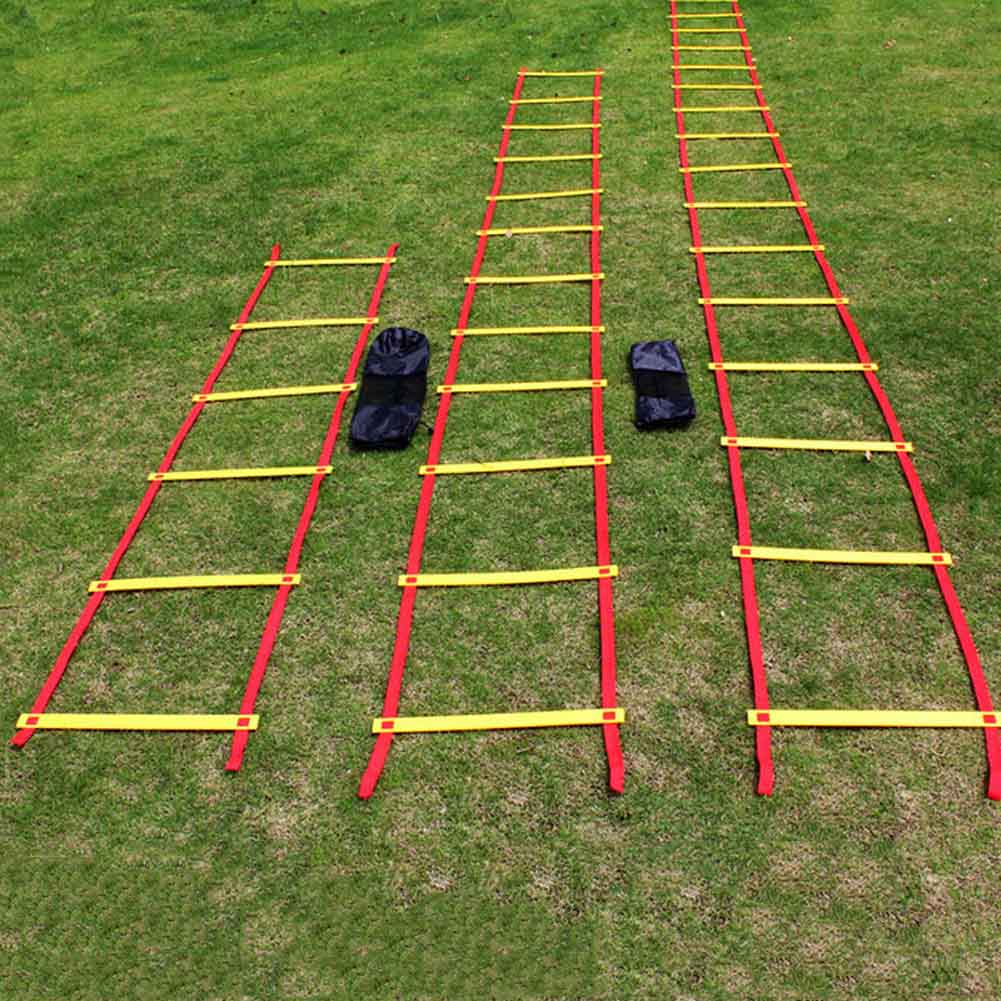 New Durable 9 Rung 16.5 Feet 5M Agility Ladder For Soccer And Football Speed Training Fitness Equipment SPT0608 цена