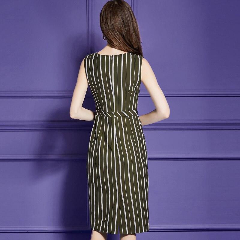 O Sans Robes De Travail cou Pour Mode Robe A Le Femmes Bande line Manches Dresses Designer Vintage wq8YIvO