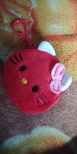 HOT NEW 8CM Ca. 4Colors, Kitty Mini Key Hook Coin portemonnee tas Pouch, Gift Pluche coin bag Girl's bolsa de moeda photo review
