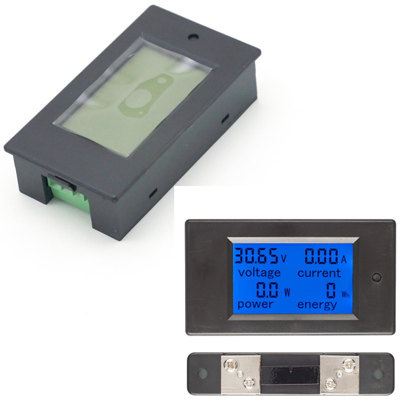 1set Dc 6.5-100v 50a Lcd Combo Meter Voltage Current Kwh Watt Panel Meter 12v 24v 48v Battery Power Monitoring 50a Shunt Tools