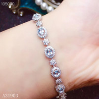 ca94f153539c KJJEAXCMY Boutique Jewelry 925 Pure Silver Inlaid Natural Sapphire Women S  Bracelet Support Detection