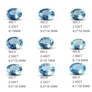Натуральный неоптимизированный аквамарин из чистого стекла, оригинальный камень, поддержка поверхности кольца, можно выезжать за пределы ...