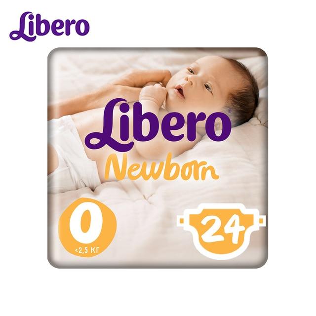 Подгузники Libero Newborn Size 0 (<2,5 кг), 24 шт.