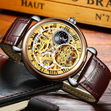 Business Tourbillon mens watches first-brand luxury waterproof punch-proof watch men's automatic mechanical skeleton watch