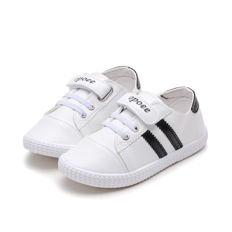 2017 Toddler Baby Glittler Shoes Girls White Sneakers Boys Sport Shoes Kids Children Causal Flat Shoes PU Leather